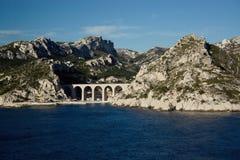 Viadotto ferroviario Francia Fotografia Stock