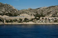 Viadotto ferroviario Francia Fotografia Stock Libera da Diritti