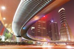 Viaduc d'omnibus à Changhaï photo libre de droits