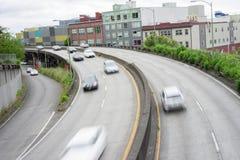 Viaduc d'un état à un autre de 99 Seattle Image libre de droits