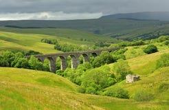 Viaduc de Dentdale, vallées de Yorkshire Photos stock