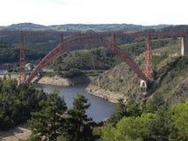 Viaduc de garabit, dans le département du Cantal, auvergne, France photos stock