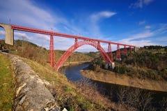 Viaduc de Garabit dans les Frances Photo libre de droits