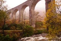 Viaduc de Glenfinnan, loch Sheil Photo stock