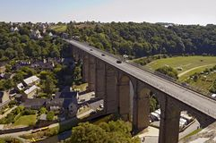 The Viaduc de Lanvallay, Dinan, France Stock Images