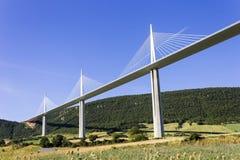 Viaduc de Millau, France stock photo
