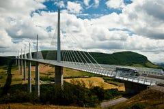 viaduc för de millau Royaltyfria Foton