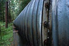 Viaduc industriel de construction d'industrie de tuyau de grande canalisation Image stock