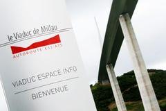 Viaduc Millau Photographie stock