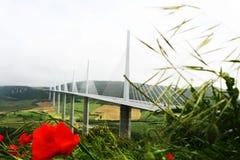 Viaduc Millau Photographie stock libre de droits