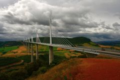 Viaduc of Millau Royalty Free Stock Photos