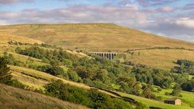 Viaduc principal de bosselure, vallées de Yorkshire, Cumbria, R-U photos libres de droits