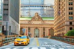 Viaduc terminal de Grand Central et vieille entrée Images libres de droits