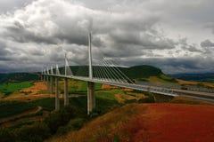 Viaduc van Millau Royalty-vrije Stock Foto's