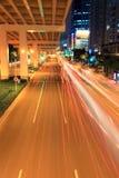 viaduct движения ночи стоковое изображение rf
