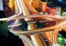 viaduct самомоднейшей ночи урбанский Стоковое Фото