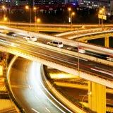 viaduct самомоднейшей ночи урбанский Стоковые Фотографии RF