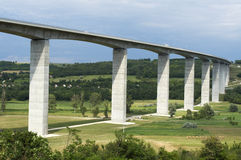 Viaduct. Is leads beneath the valley Stock Photography