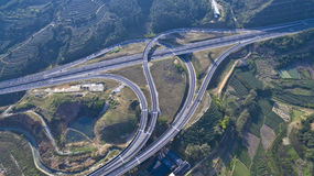 Viaduct of aerial photography Stock Images