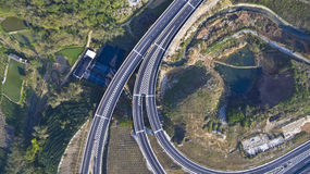 Viaduct of aerial photography Stock Photos