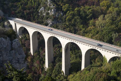 Viaduct in Alps Stock Images