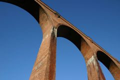Viaduct arches. Royalty Free Stock Photo