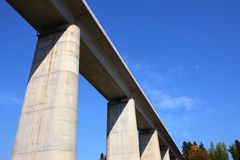 Viaduct in blue sky Royalty Free Stock Photography