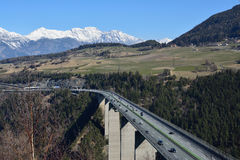 Viaduct. Bridge on the brenner road royalty free stock images