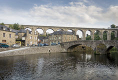 Viaduct and bridge at Dinan, Brittany, France Royalty Free Stock Images