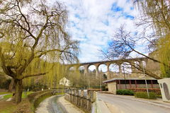 Viaduct bridge in Luxembourg Royalty Free Stock Photo