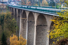 Viaduct bridge (Passerelle) in Luxembourg Royalty Free Stock Photography