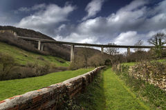 Viaduct Cantabria Royalty Free Stock Photo