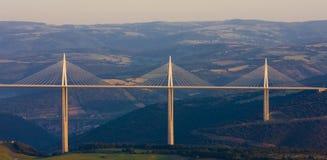 Viaduct de Millau Fotografia de Stock Royalty Free