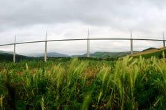 Viaduct de Millau Foto de Stock