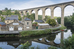 Viaduct at Dinan, Brittany, France Royalty Free Stock Image