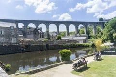 Viaduct at Dinan, Brittany, France Stock Image