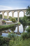 Viaduct at Dinan, Brittany, France Royalty Free Stock Photography