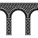 viaduct för sten för forntida akveduktbro seamless stock illustrationer