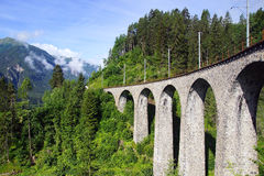 Viaduct. Filisur, Switzerland royalty free stock photography