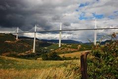Viaduct France de Millau Imagens de Stock Royalty Free