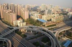 Viaduct in guangzhoustad royalty-vrije stock afbeeldingen