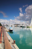 Viaduct Harbor Auckland. Ships, Yatch and Sailing Ship moored at Viaduct Harbour Auckland Royalty Free Stock Photo