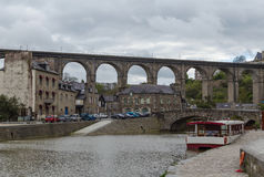 Viaduct of Lanvallay, Dinan, France Stock Photography
