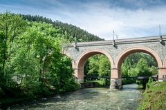 Viaduct in Lower Austria Royalty Free Stock Images