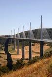 viaduct millau хайвея Франции моста Стоковое фото RF