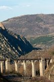 Viaduct in the mountains Royalty Free Stock Photography