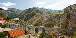 Viaduct in the mountains Royalty Free Stock Image