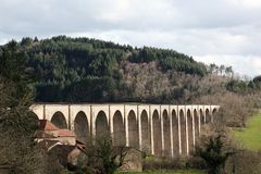 Viaduct of Mussy-sous-Dun in Burgundy Stock Image