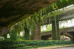 Viaduct-Nature and modern civilization Royalty Free Stock Photos