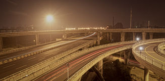 Viaduct of the night Stock Photo